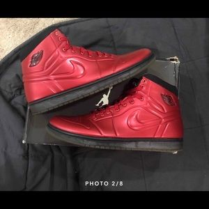 Air Jordan 1 Anodized Red Mens Size 13 Foamposite